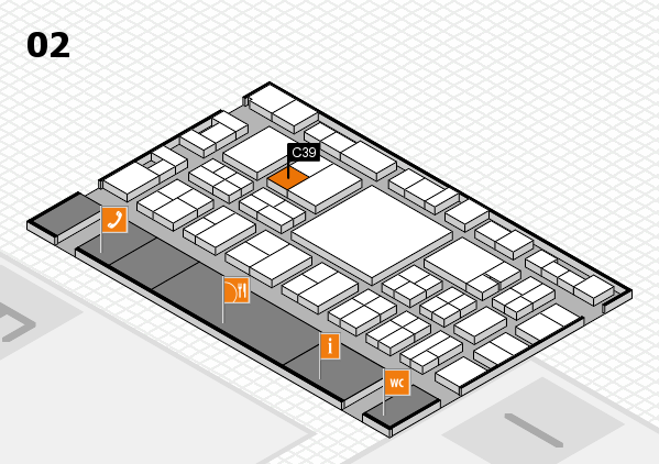 EuroShop 2017 hall map (Hall 2): stand C39