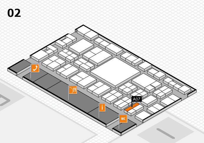 EuroShop 2017 hall map (Hall 2): stand A07