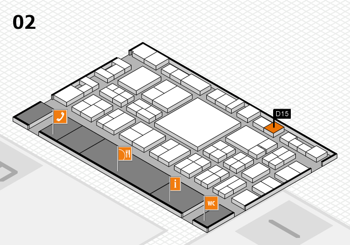 EuroShop 2017 hall map (Hall 2): stand D15