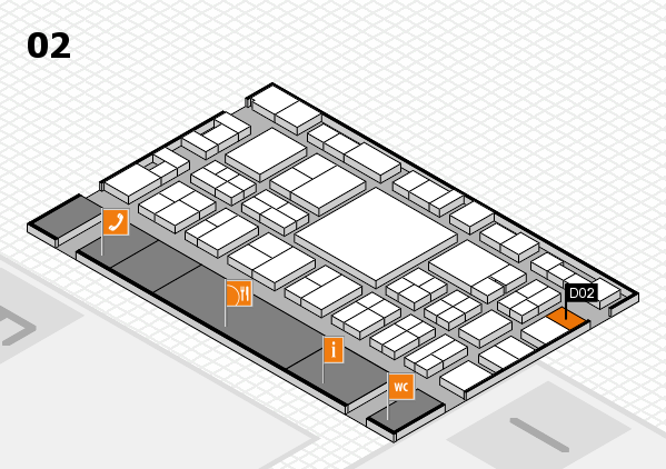 EuroShop 2017 hall map (Hall 2): stand D02