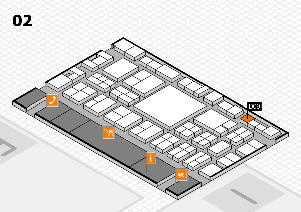 EuroShop 2017 hall map (Hall 2): stand D09