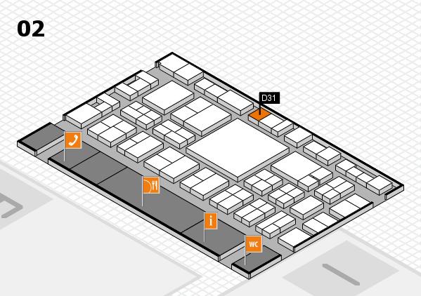 EuroShop 2017 hall map (Hall 2): stand D31