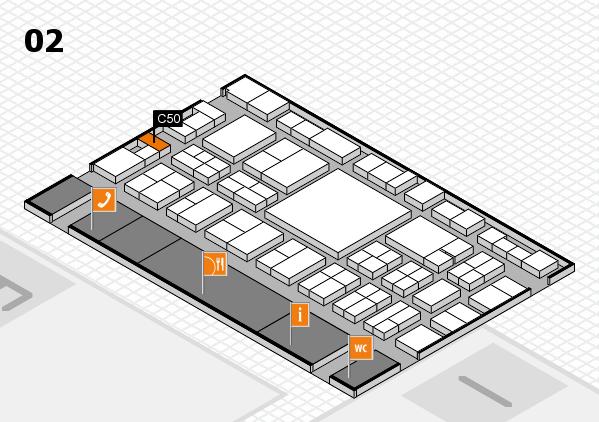 EuroShop 2017 hall map (Hall 2): stand C50