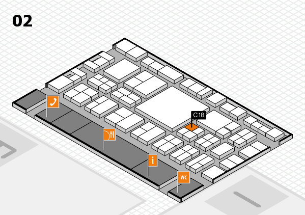 EuroShop 2017 hall map (Hall 2): stand C18