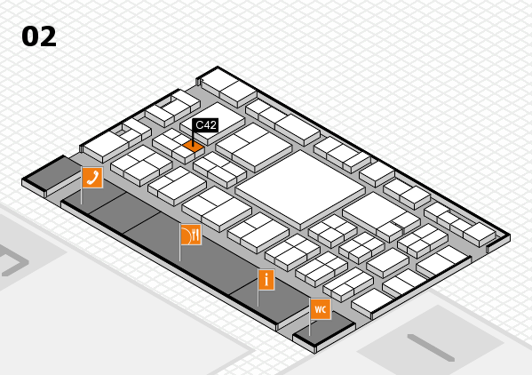 EuroShop 2017 hall map (Hall 2): stand C42