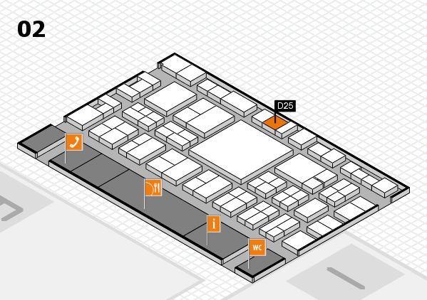 EuroShop 2017 hall map (Hall 2): stand D25
