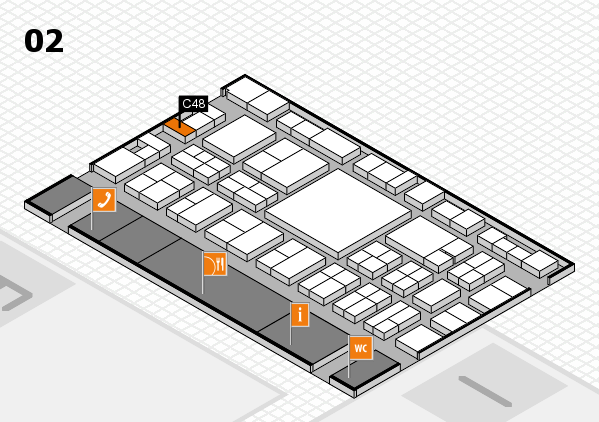 EuroShop 2017 hall map (Hall 2): stand C48