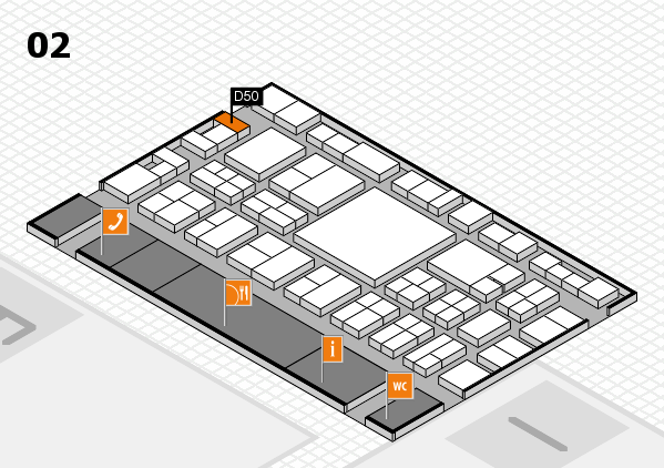 EuroShop 2017 hall map (Hall 2): stand D50