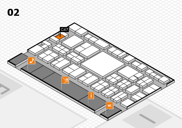 EuroShop 2017 hall map (Hall 2): stand C47