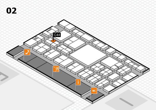EuroShop 2017 hall map (Hall 2): stand C44