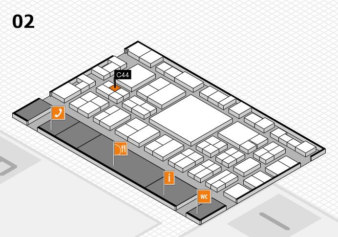 EuroShop 2017 hall map (Hall 2): stand C44