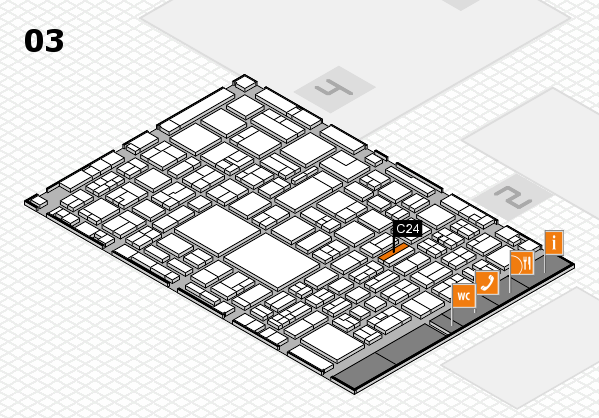 EuroShop 2017 hall map (Hall 3): stand C24