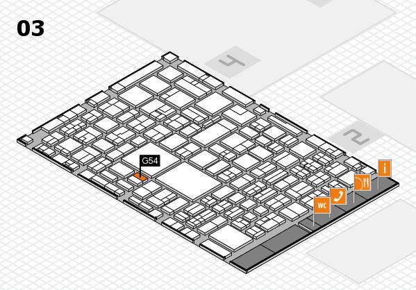 EuroShop 2017 hall map (Hall 3): stand G54