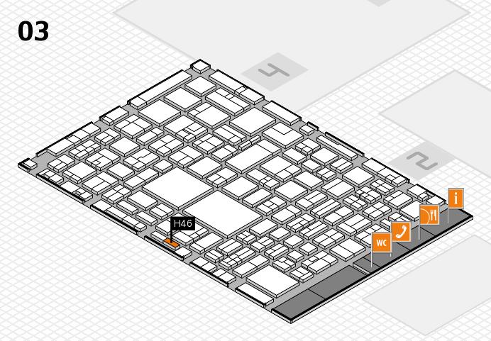EuroShop 2017 hall map (Hall 3): stand H46