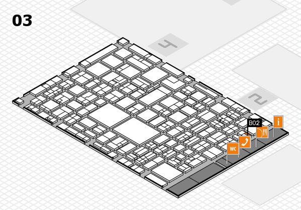 EuroShop 2017 hall map (Hall 3): stand B02
