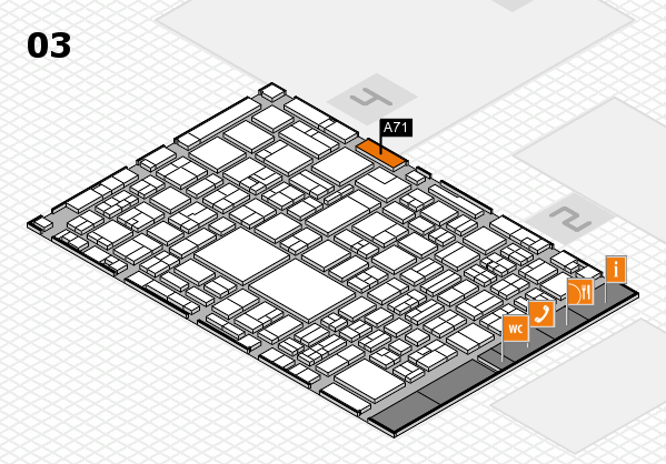 EuroShop 2017 hall map (Hall 3): stand A71