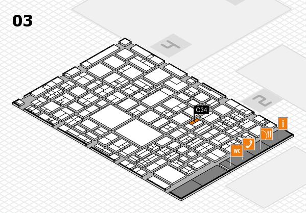 EuroShop 2017 hall map (Hall 3): stand C34
