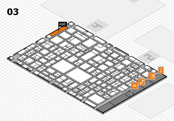 EuroShop 2017 hall map (Hall 3): stand A96