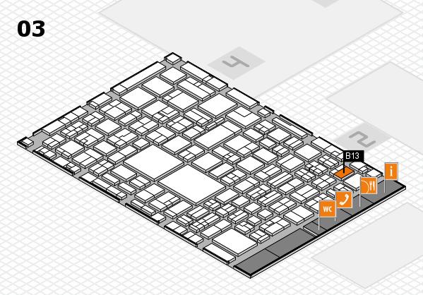 EuroShop 2017 hall map (Hall 3): stand B13