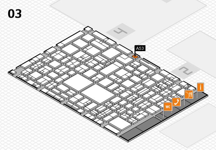 EuroShop 2017 hall map (Hall 3): stand A53