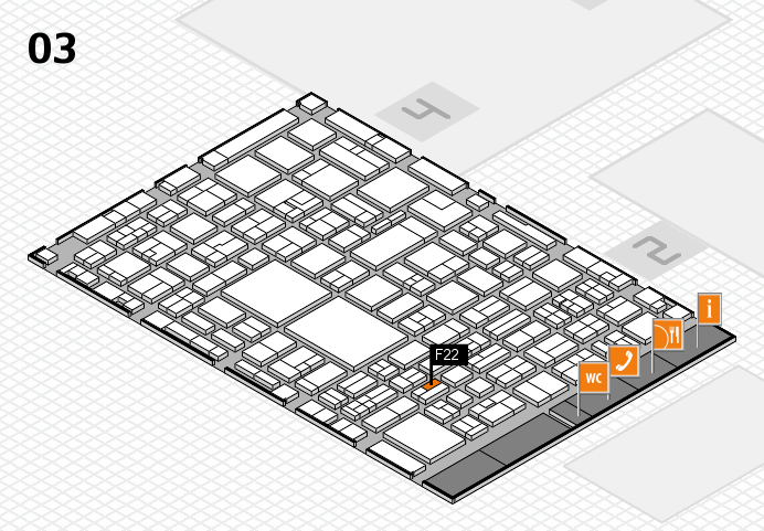 EuroShop 2017 hall map (Hall 3): stand F22