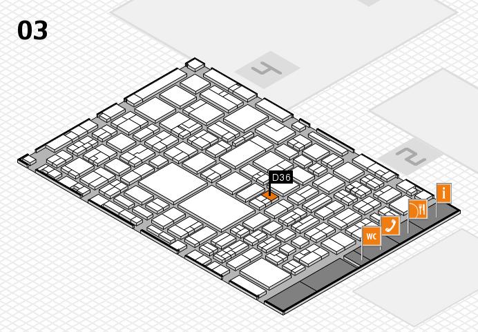 EuroShop 2017 hall map (Hall 3): stand D36