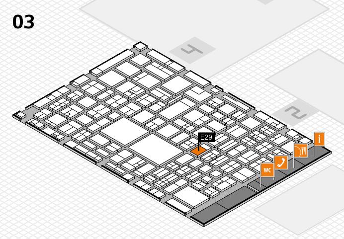 EuroShop 2017 hall map (Hall 3): stand E29
