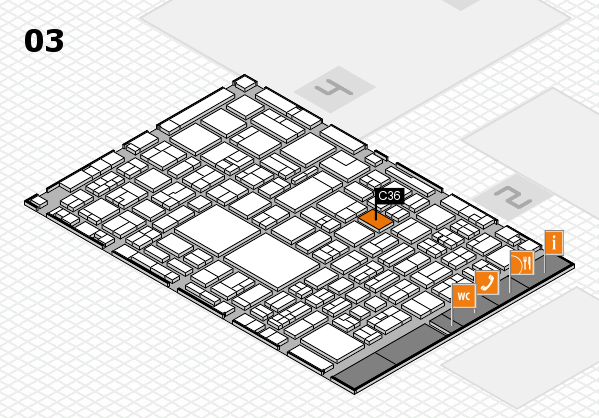 EuroShop 2017 hall map (Hall 3): stand C36