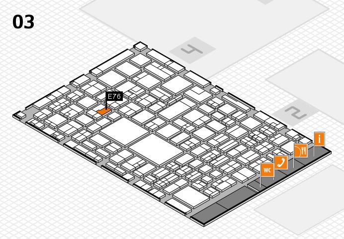 EuroShop 2017 hall map (Hall 3): stand E76