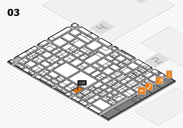 EuroShop 2017 hall map (Hall 3): stand G36