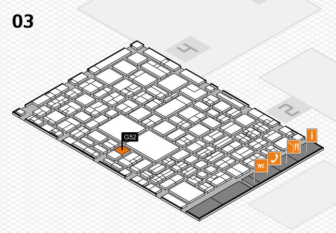 EuroShop 2017 hall map (Hall 3): stand G52