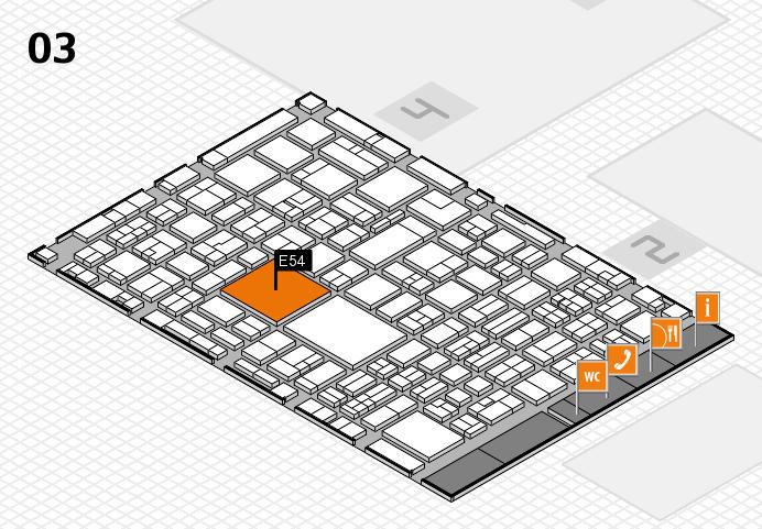 EuroShop 2017 hall map (Hall 3): stand E54