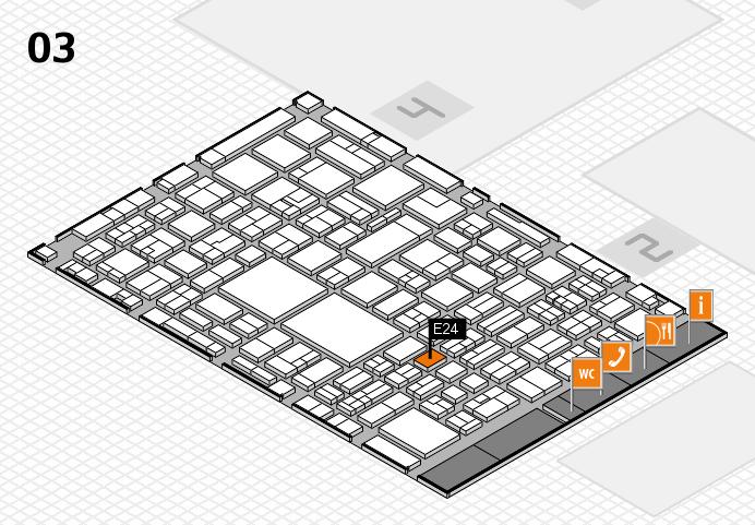 EuroShop 2017 hall map (Hall 3): stand E24
