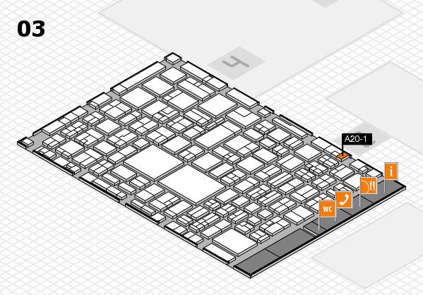 EuroShop 2017 hall map (Hall 3): stand A20-1