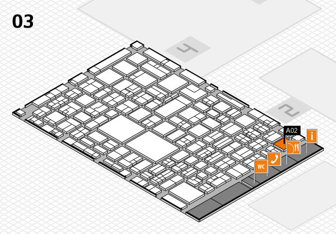 EuroShop 2017 hall map (Hall 3): stand A02