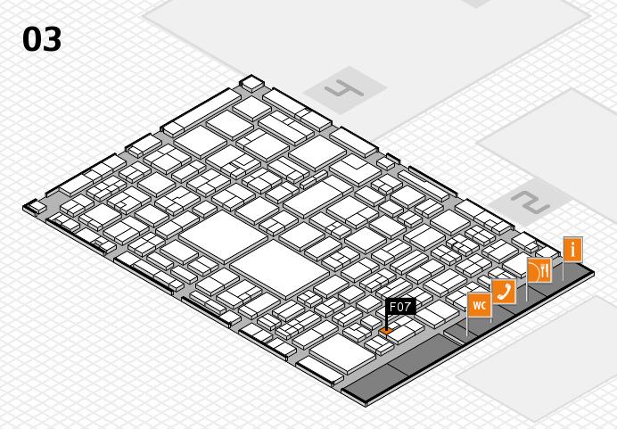 EuroShop 2017 hall map (Hall 3): stand F07
