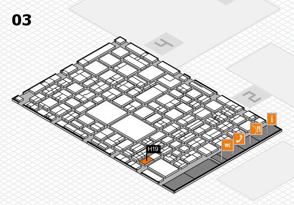EuroShop 2017 hall map (Hall 3): stand H19