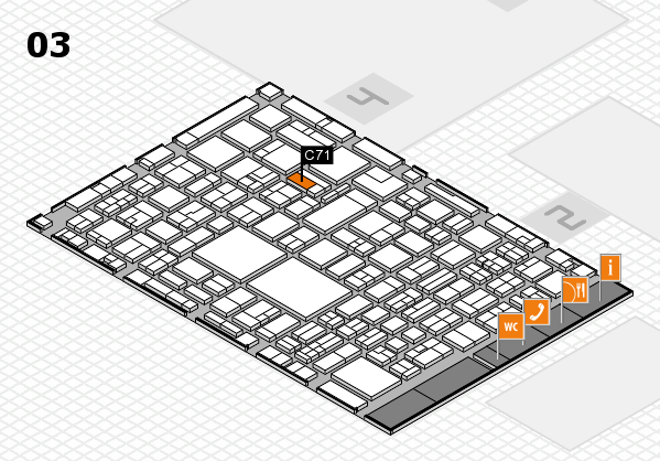EuroShop 2017 hall map (Hall 3): stand C71