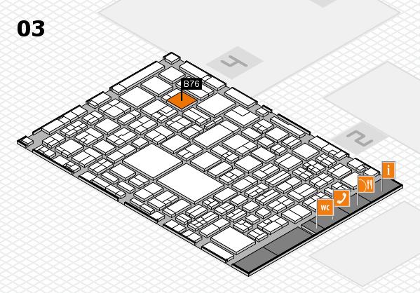 EuroShop 2017 hall map (Hall 3): stand B76