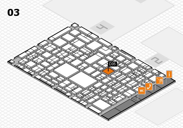 EuroShop 2017 hall map (Hall 3): stand D35