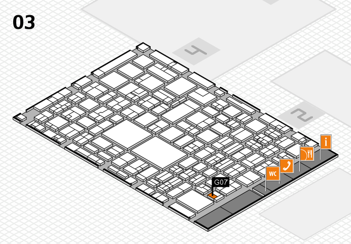 EuroShop 2017 hall map (Hall 3): stand G07