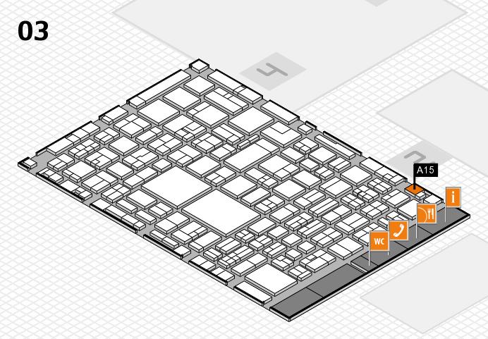 EuroShop 2017 hall map (Hall 3): stand A15