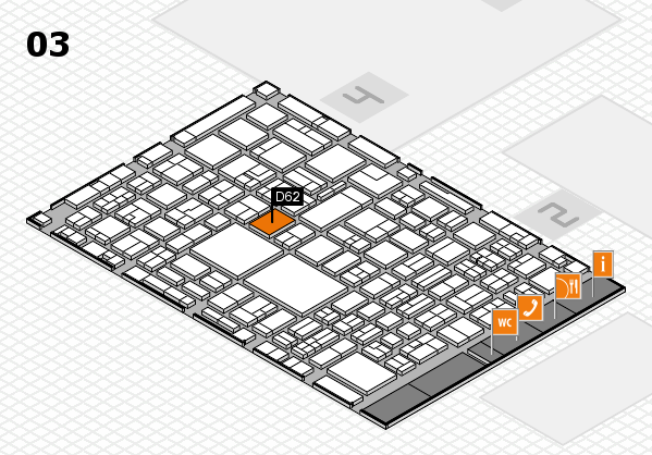 EuroShop 2017 hall map (Hall 3): stand D62