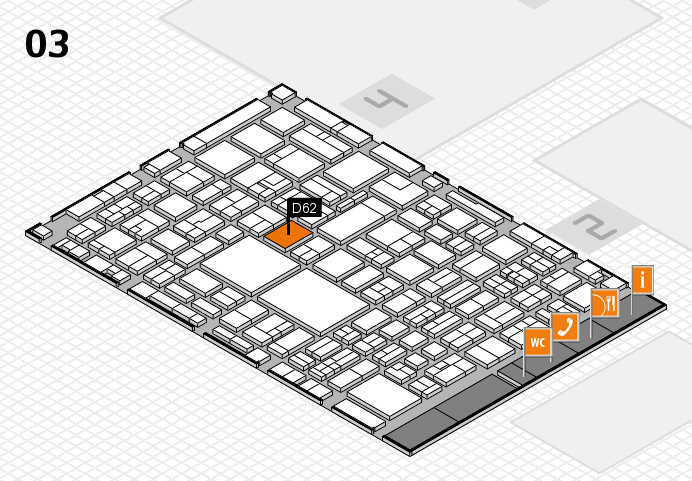 EuroShop 2017 hall map (Hall 3): stand D62