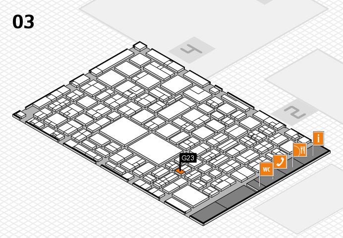 EuroShop 2017 hall map (Hall 3): stand G23