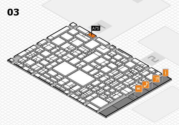 EuroShop 2017 hall map (Hall 3): stand A75