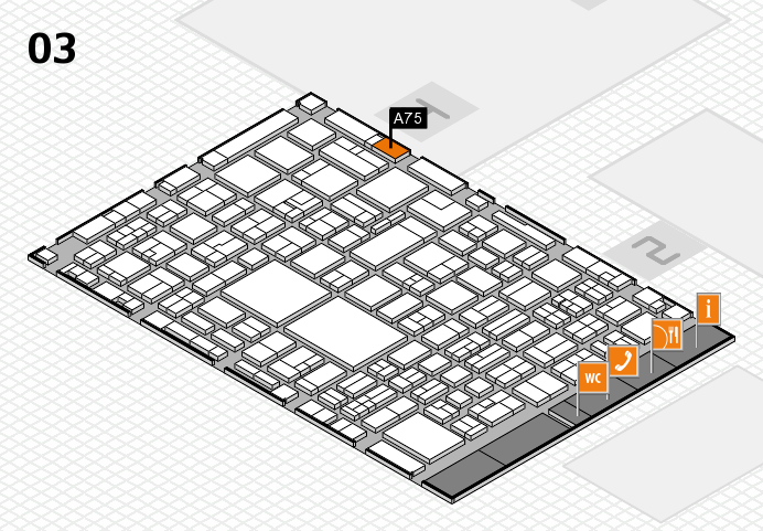 EuroShop 2017 hall map (Hall 3): stand A75