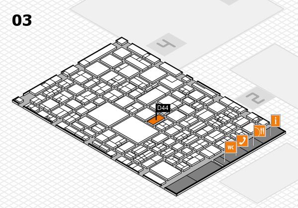 EuroShop 2017 hall map (Hall 3): stand D44