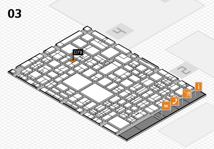 EuroShop 2017 hall map (Hall 3): stand D78