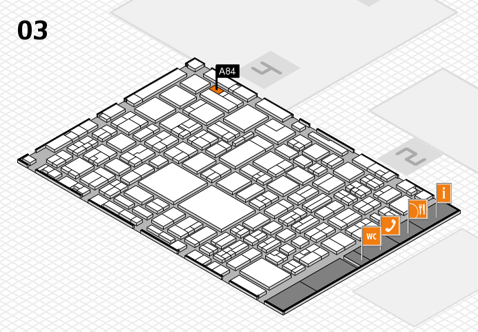 EuroShop 2017 hall map (Hall 3): stand A84